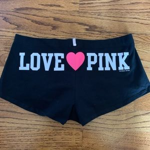 PINK Victoria's Secret Boyshorts LOVE 💓 PINK Sz L